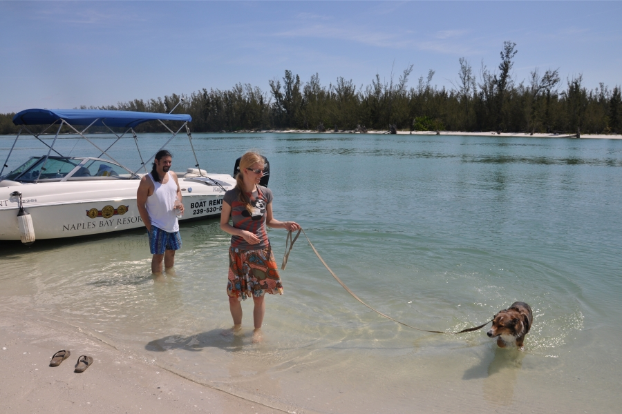 Keewaydin's beach is the only dog friendly beach in the Naples Marco Island area.