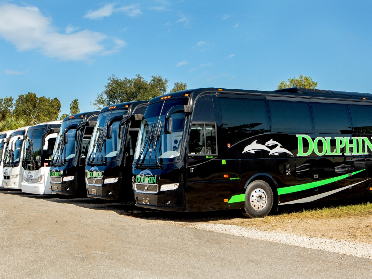 New Volvo 56 Passenger motor coaches