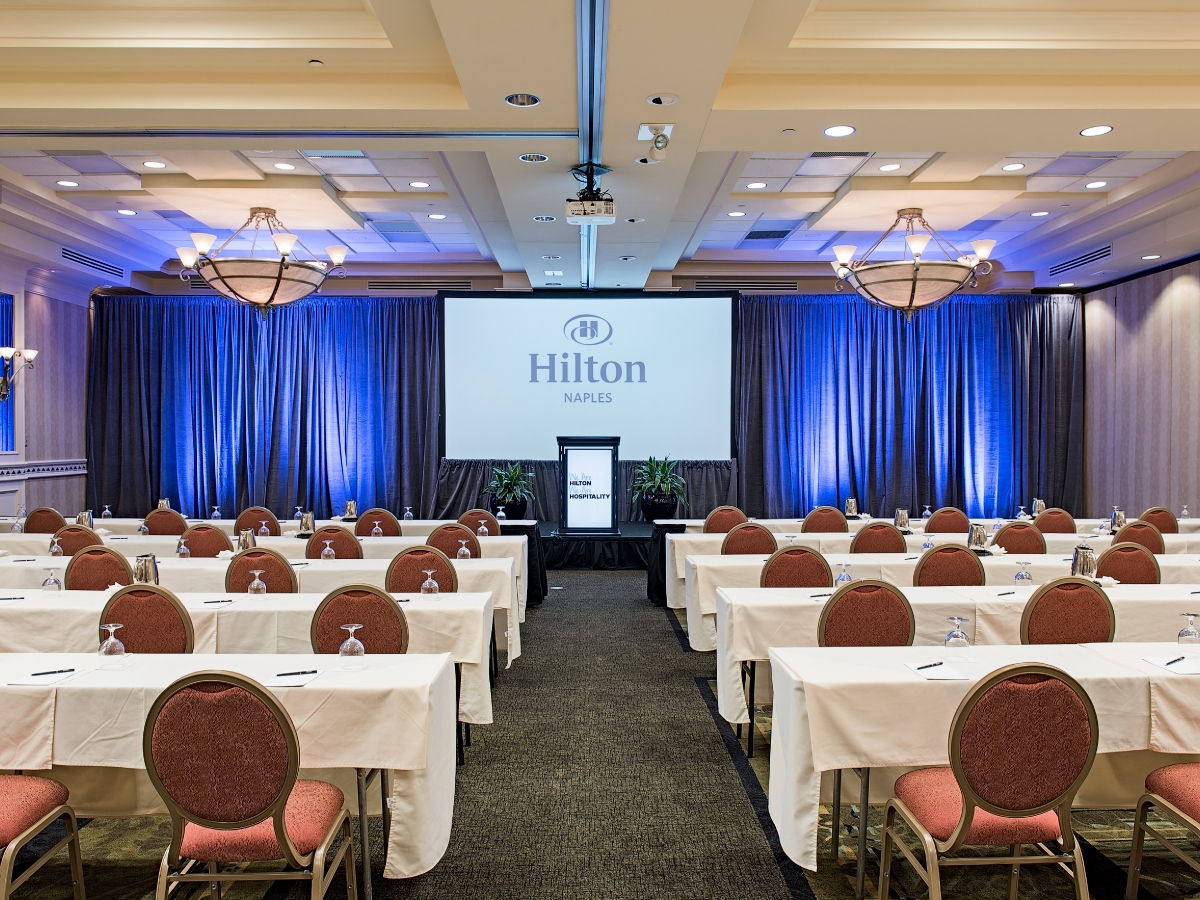 Hilton Naples Royal Palm Ballroom Salons A&B 2300 Sq Ft