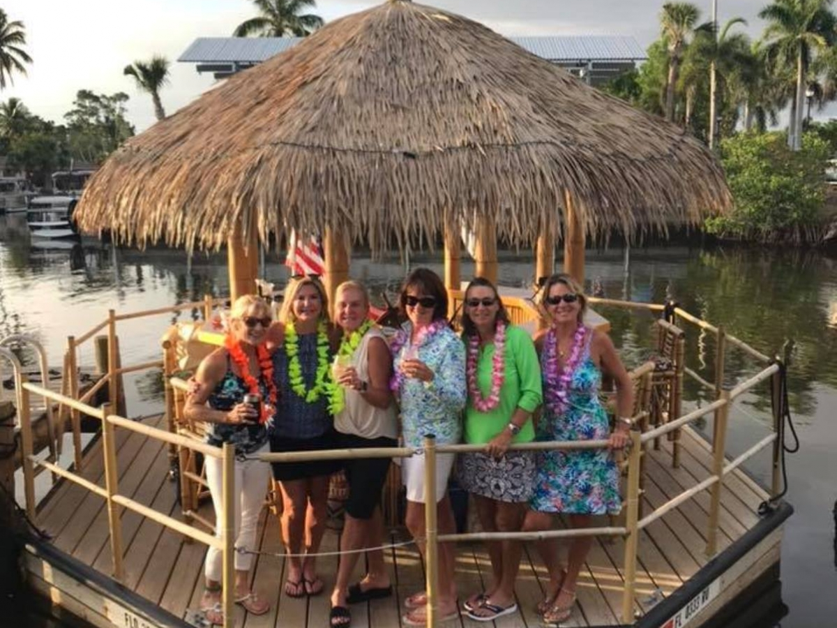 Hop aboard the Cruisin Tikis for a BYOB cruise of Naples Bay