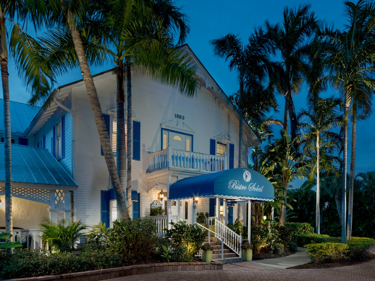 Fine Dining on Site at the Olde Marco Inn: Bistro Soleil Restaurant