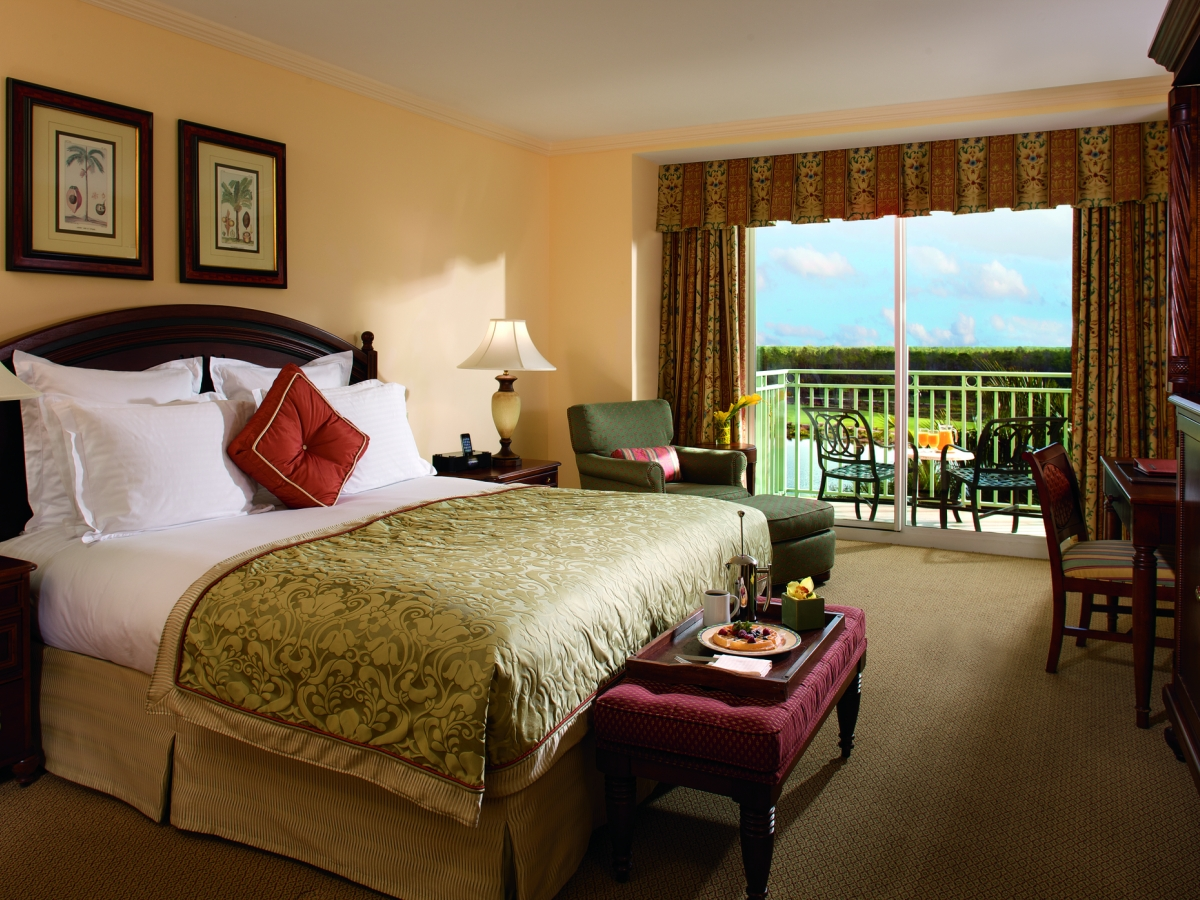 Golf course view guestroom at The Ritz-Carlton Golf Resort, Naples