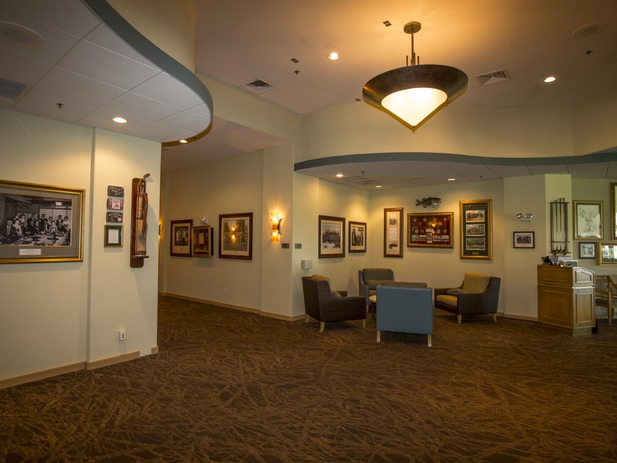 Sam Snead's Lobby with memorobilia