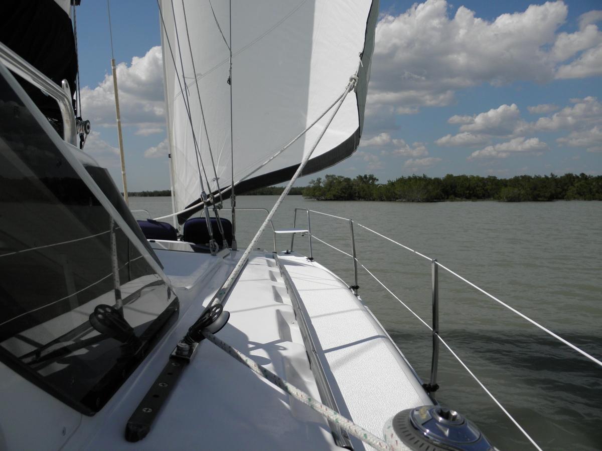 Sailing through the pass