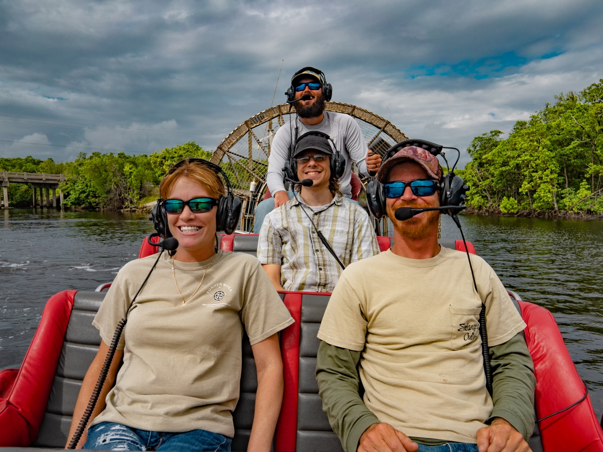 Airboat Tour Includes Communication Headsets