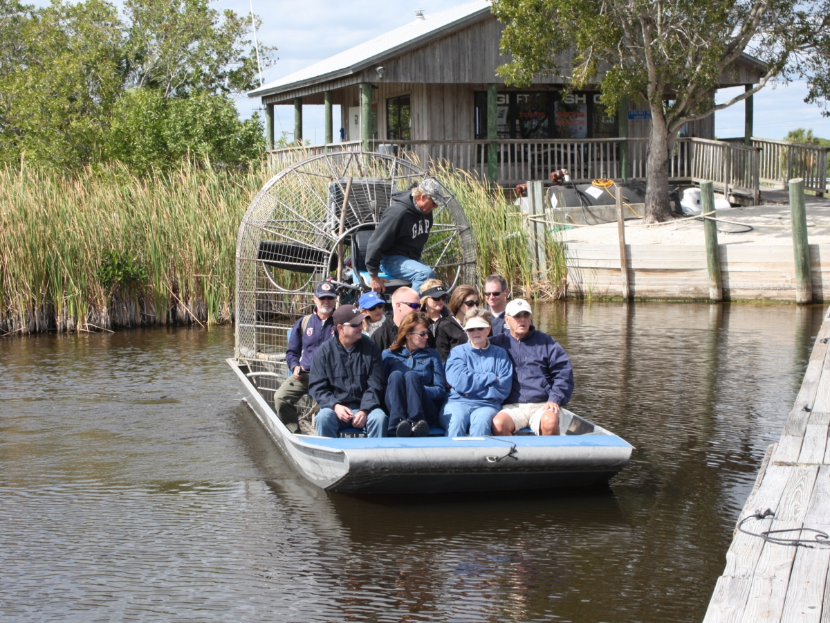 Everglades airboat tours with Captain Mitch