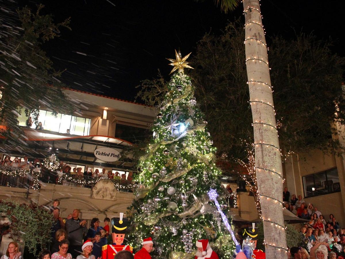 Christmas Island Style Tree Lighting In Veterans Park Naples