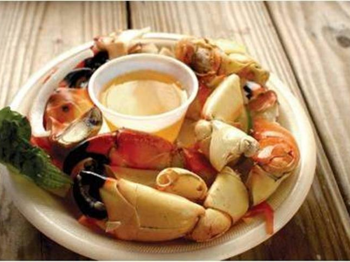 Find fresh Florida stone crab claws during the annual season October 15 through May 15 in restaurants and markets in Naples, Marco Island and Everglades City - and at the annual Stone Crab Festival Oct 25-27, 2019 in Naples.