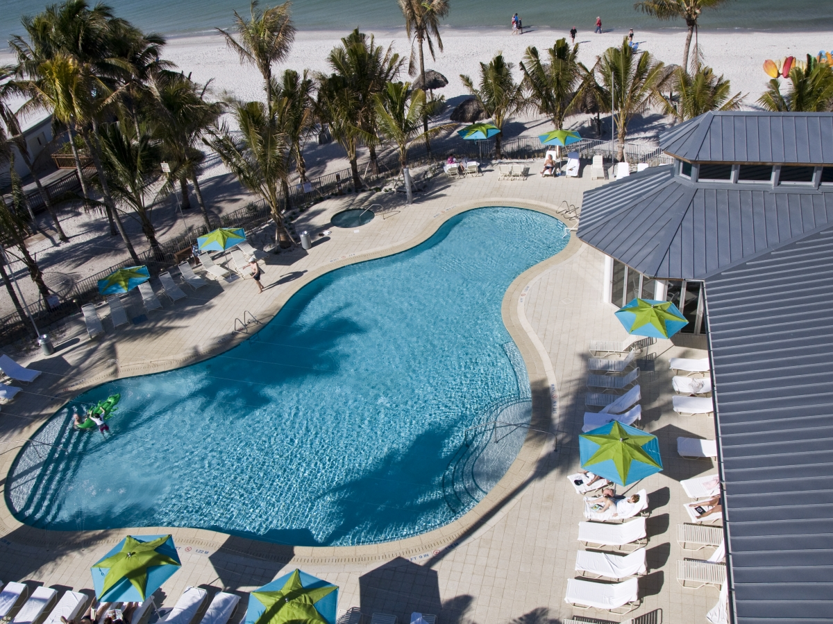Pool complex includes a family pool and a quiet pool & 2 whirlpools