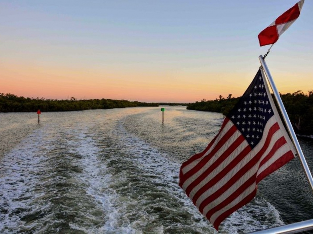 Pure Florida sunset cruise through Naples Bay and the Gulf of Mexico