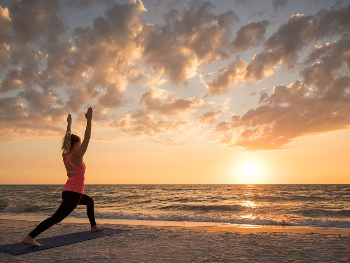 Sunset Beach Yoga At The Ritz Carlton