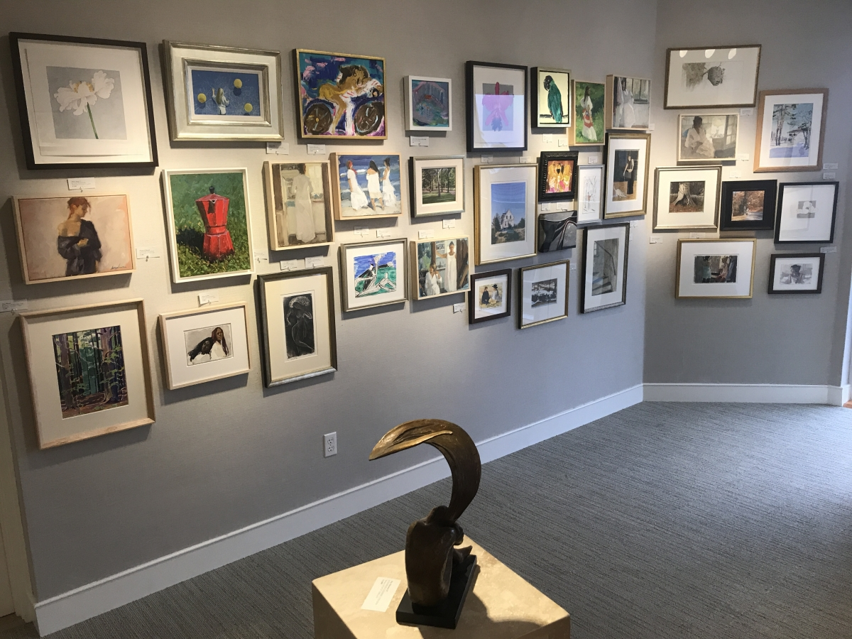 small works of art group exhibition at Harmon-Meek Gallery