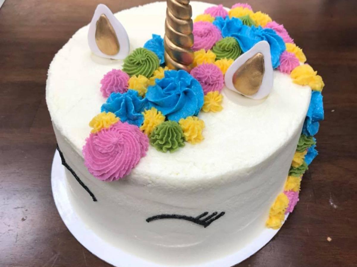 Epiphany Bakery gluten free unicorn cake
