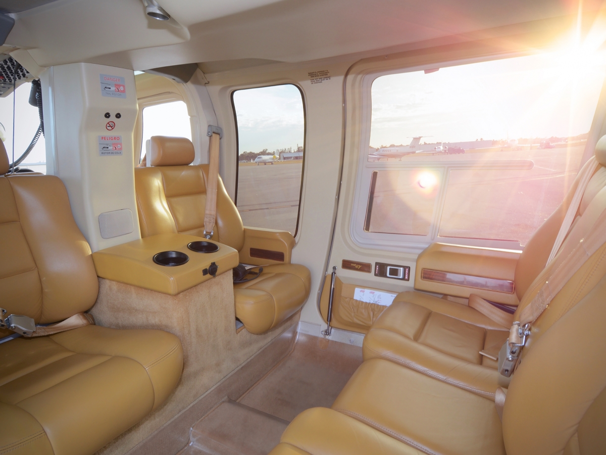 Elite Helicopters Bell 407 Interior