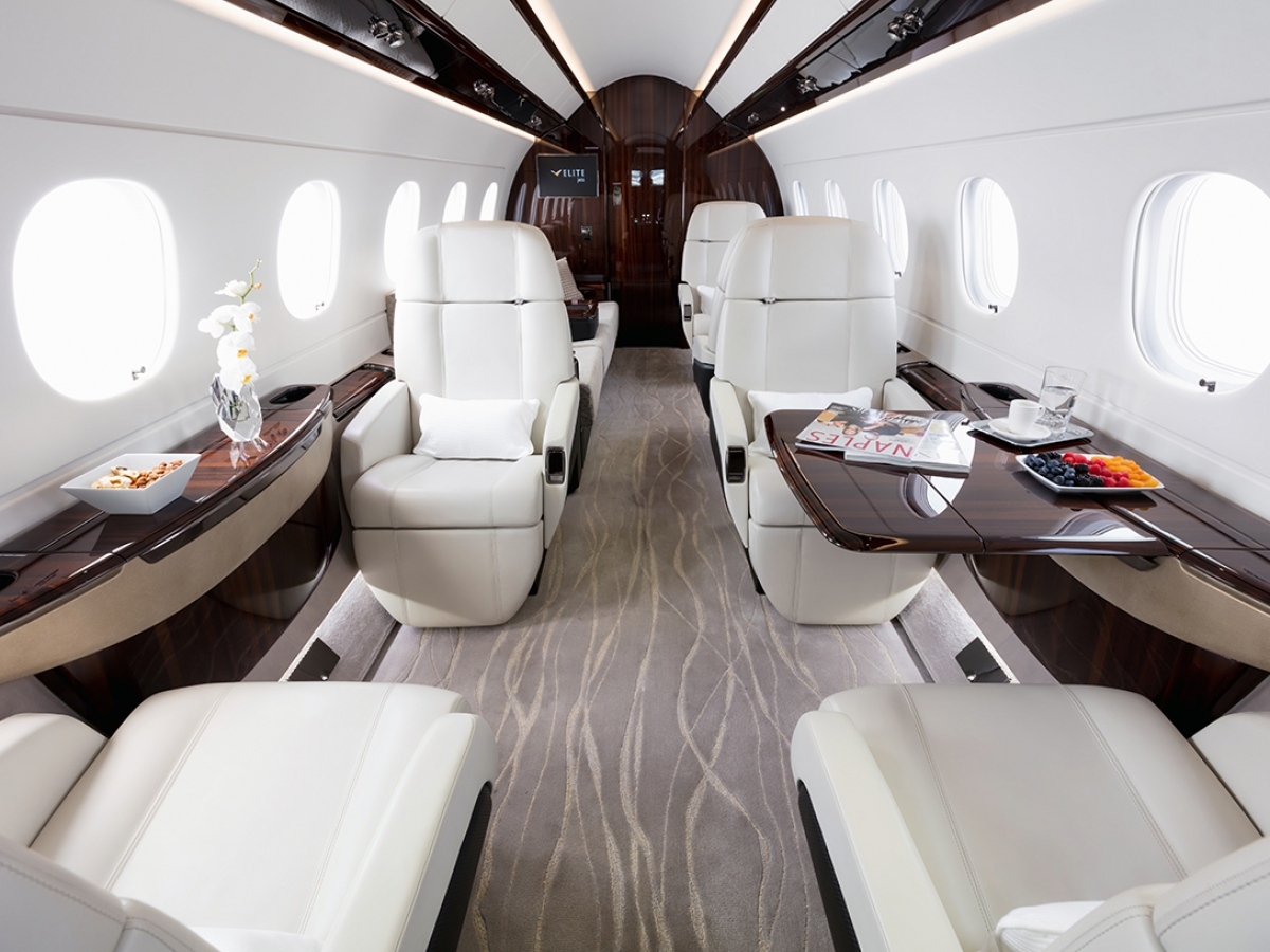 Elite Jets Legacy 500 Interior