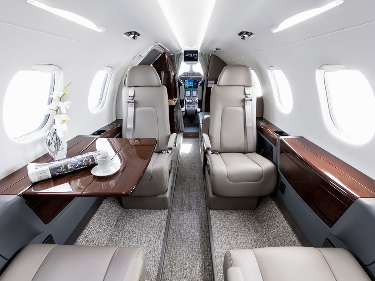 Elite Jets Phenom 300 Interior