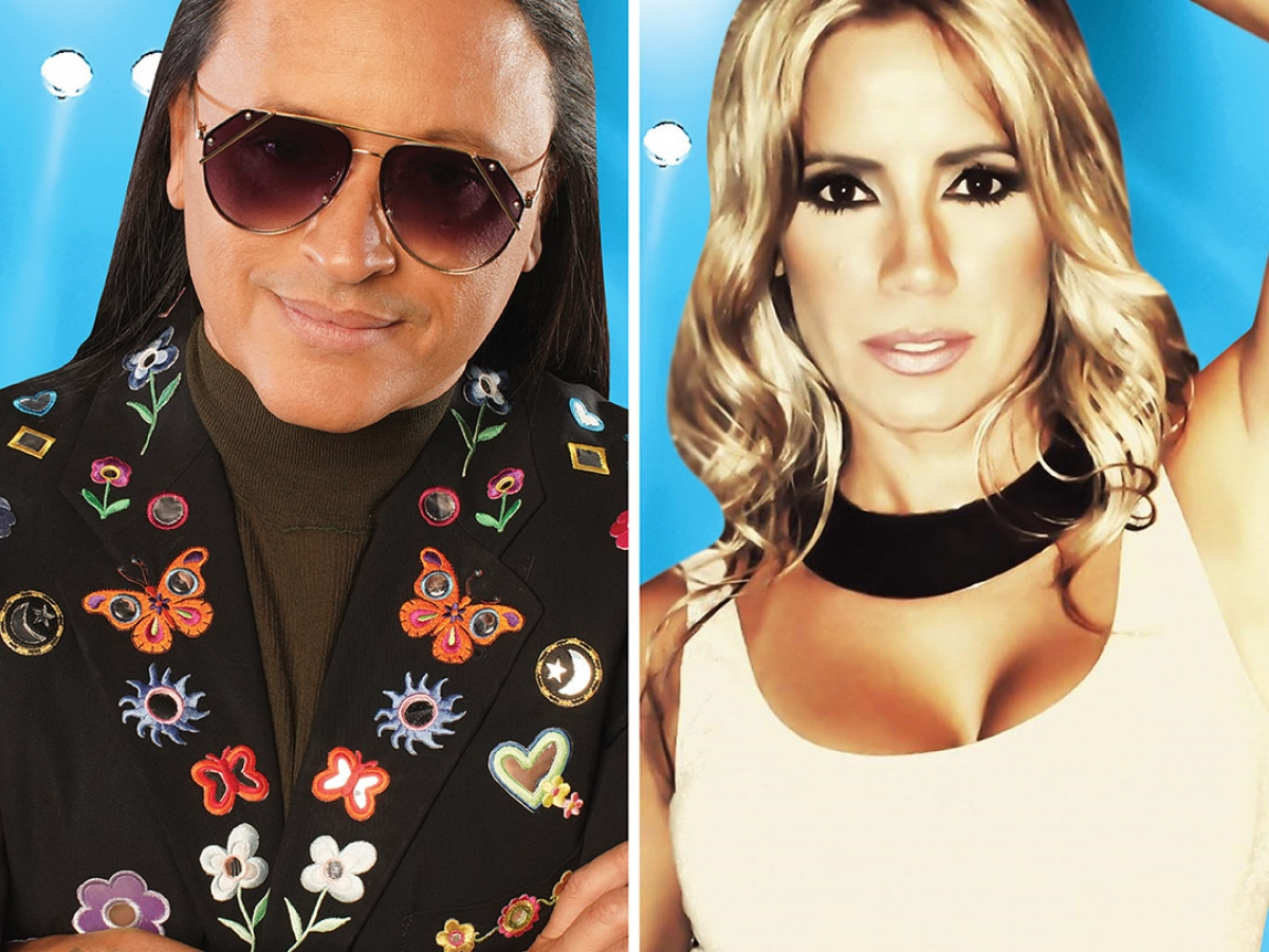 Elvis Crespo and Melina León