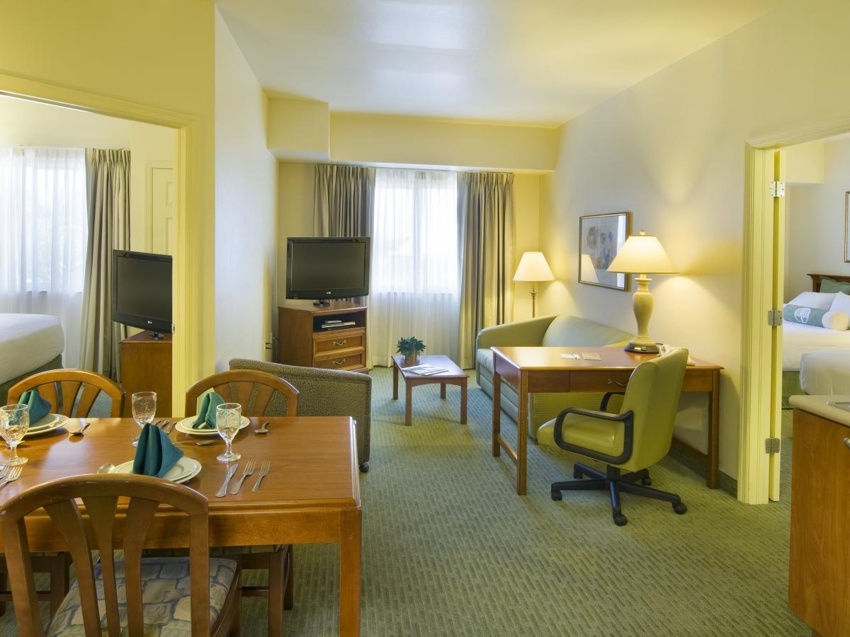 Two Bedroom Suites sleeps up to 8 people!