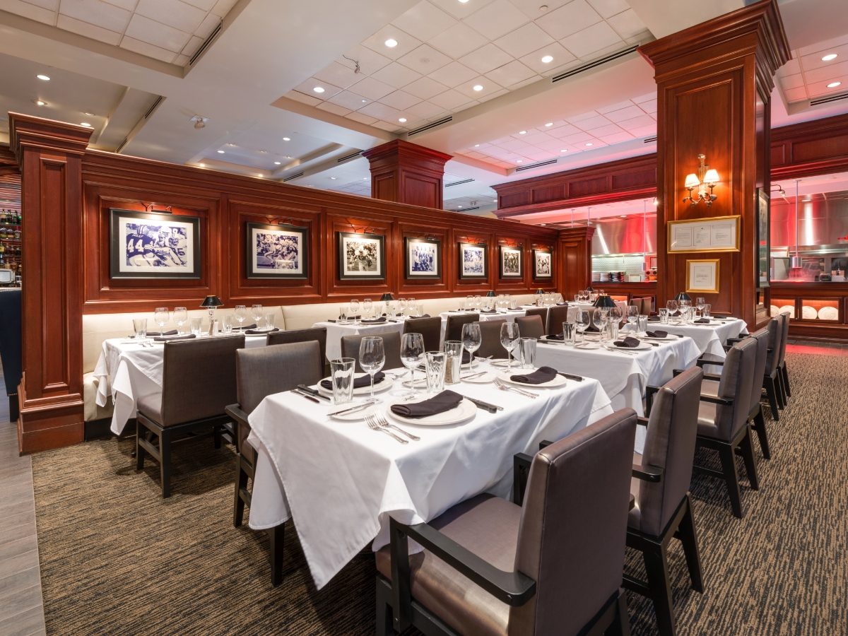 Award-winning Shula's Steak House located off the lobby of the Hilton Naples Hotel