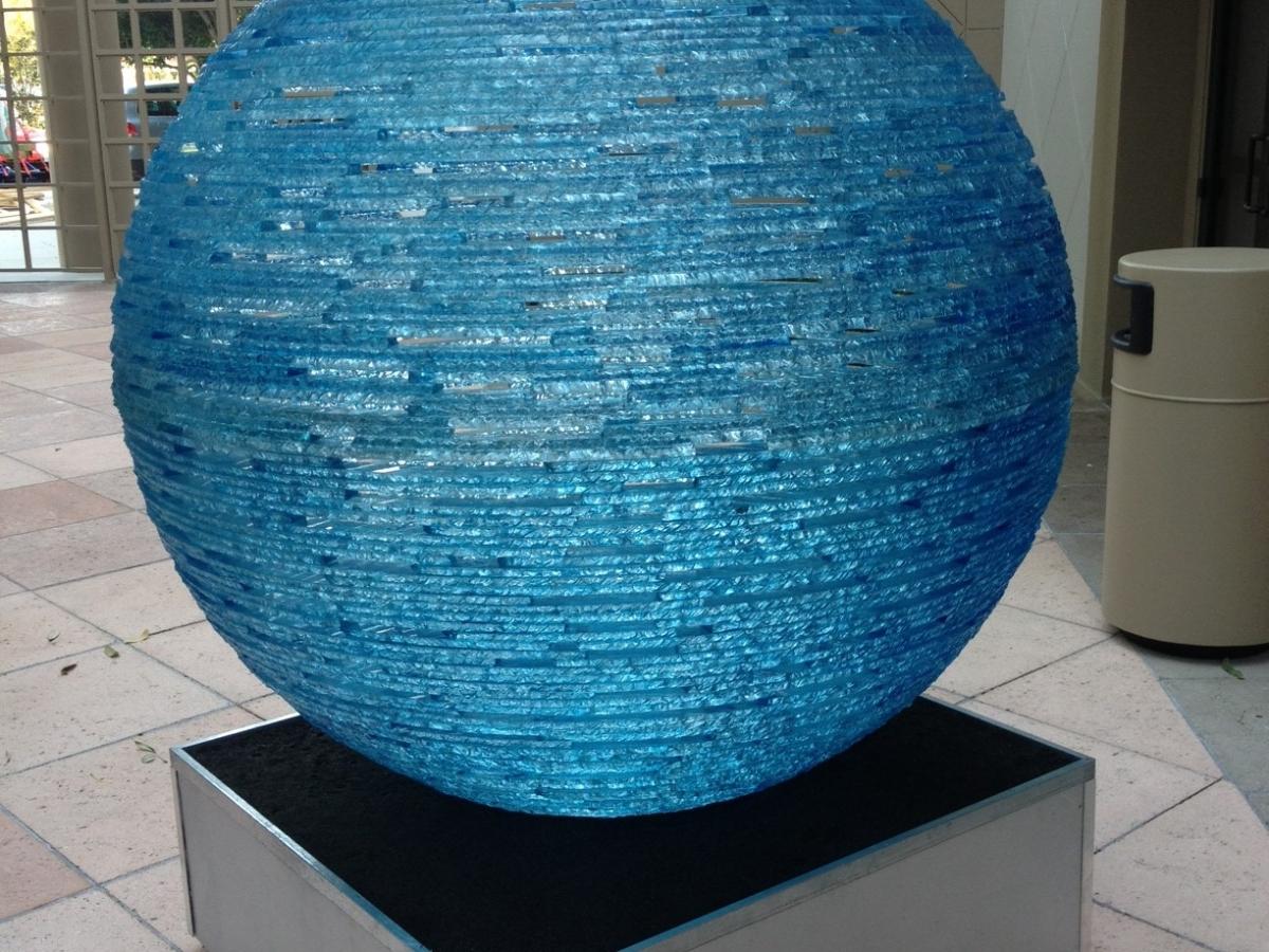 Henry Richardson Blue Orb sculpture